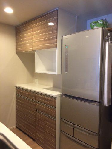 ハイカウンターのオーダー食器棚|施工事例|東京都板橋区|