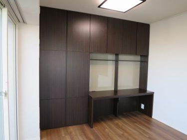 オーダーメイドの食器棚・デスク&収納|施工事例|東京都立川市|マンション