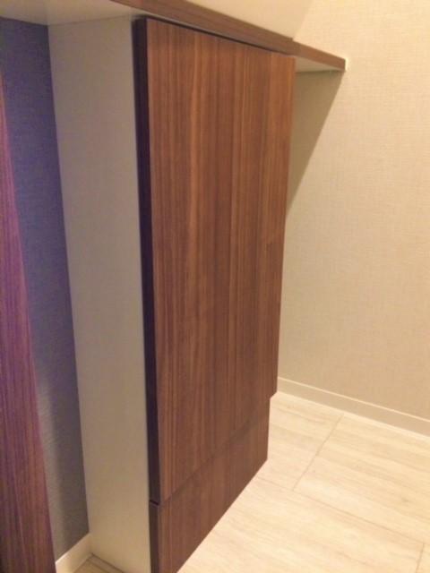 トイレのデットスペースもオーダー家具で解消!見事に収納に変身!